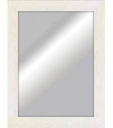 Espejo plano rustico blanco _6327