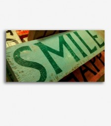 Cartel retro Smile _G846