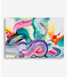 Cuadro abstracto trazos pintura