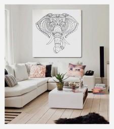 Elefante Boho Mandala