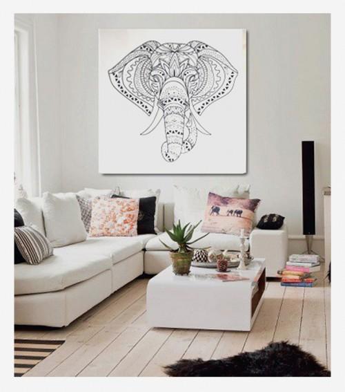 Cuadro elefante mandala - Cuadros vintage para salon ...