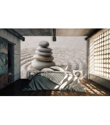 Fotomural piedras arena zen