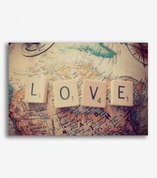 Mapa Love vintage _G869