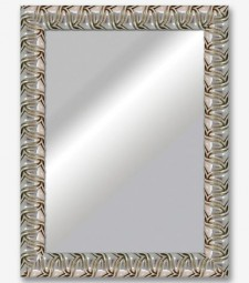 Espejo barroca redonda plata 8cm_6538