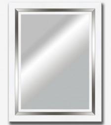 Espejo plano blanco filo plata brillo 9cm_5800