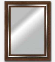 Espejo plano nogal filo plata brillo 9cm_5947