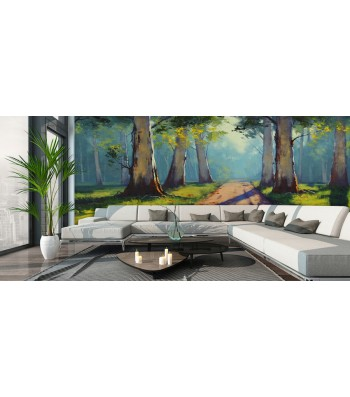 Fotomural bosque pintura