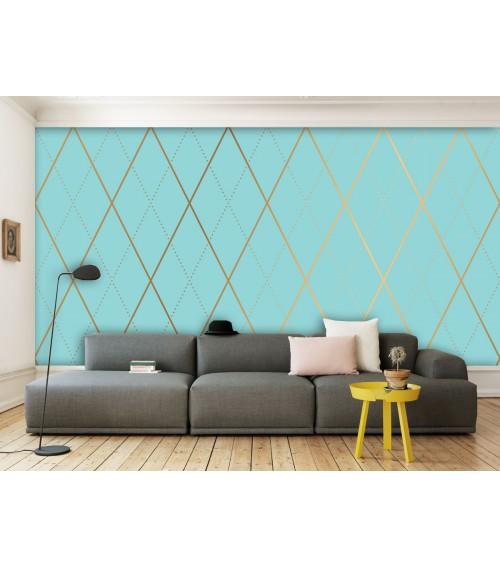 Fotomural luxury rombo azul