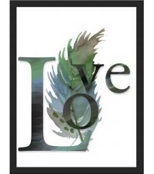 Cuadro pluma LOVE inspiracion