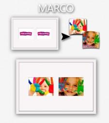 Marco + Passpartout 60x40 - 2 Fotos