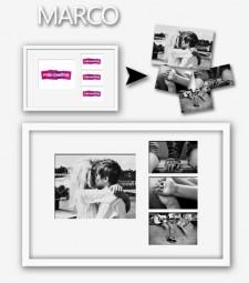Marco + Passpartout 60x40 - 4 Fotos