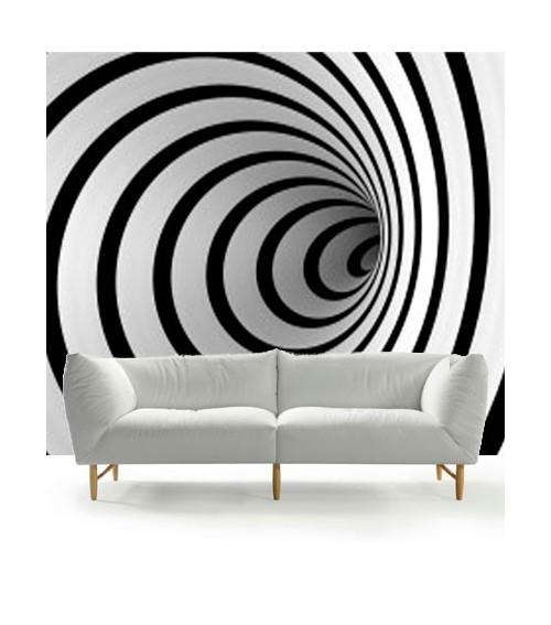 Fotomural espiral bn